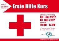 Erste Hilfe Kurs - Stadtjugendring Göttingen e.V.