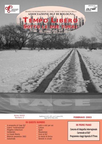 Riv. DL Febbraio 2003/26 - Dopolavoro Ferroviario BOLOGNA