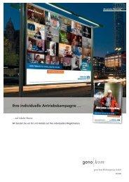 Ihre individuelle Antriebskampagne - geno kom Werbeagentur GmbH