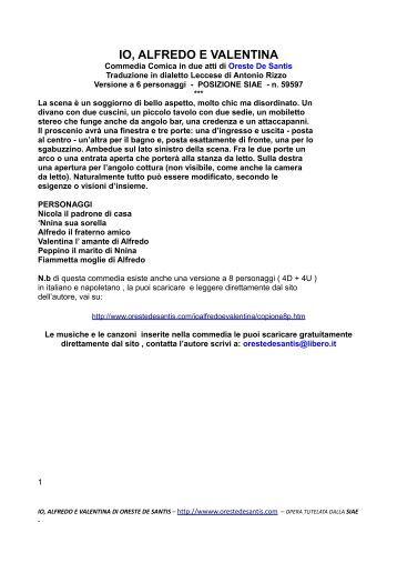Il Copione In dialetto Leccese 6p - Oreste De Santis