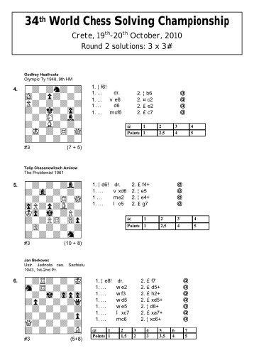 34th World Chess Solving Championship