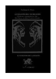 LE RAGIONI DEL NICHILISMO (di Pierleone M ... - Anarchaos.org