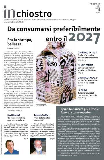 Da consumarsi preferibilmente - Istituto Universitario Suor Orsola ...