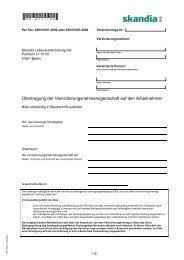 Per Fax: 030/31007-2600 Oder - Skandia Lebensversicherung AG