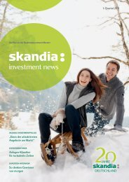 Skandia Investment News - Skandia Lebensversicherung AG