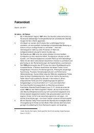 20 Jahre-20 Fakten - Skandia Lebensversicherung AG