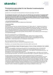 Produktinformationsblatt - Skandia Lebensversicherung AG