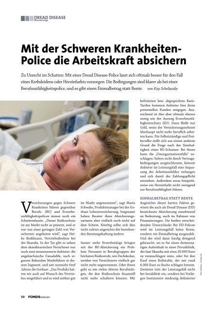 Mit der Schweren Krankheiten- Police die Arbeitskraft absichern