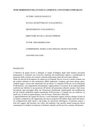 Documento in Research-Desk - tesi vers def PADIS - Padis - Sapienza