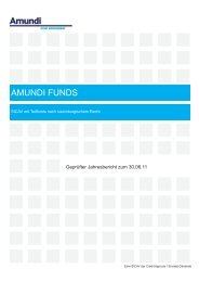 amundi funds - Skandia Lebensversicherung AG