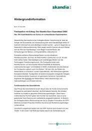 Hintergrundtext - Skandia Lebensversicherung AG