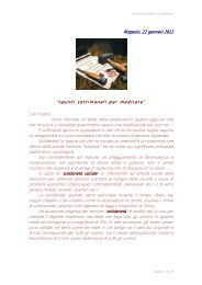 Riflessione 2 del 22/01/12 - Web in costruzione
