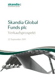 Skandia Global Funds plc - Skandia Lebensversicherung AG