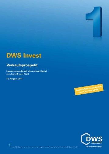DWS Invest - Skandia Lebensversicherung AG