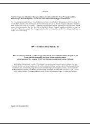 BNY Mellon Global Funds, plc - Skandia Lebensversicherung AG