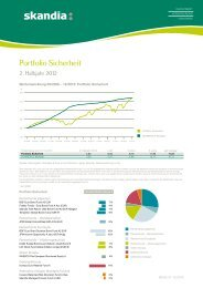 Portfolio Sicherheit Halbjahresbericht 2. Halbjahr 2012