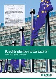 Kreditindexbevis Europa 5 - Skandia