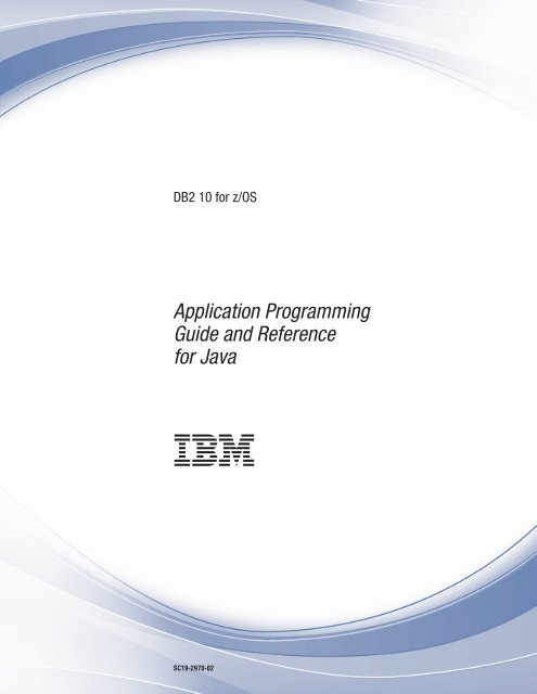 Application Programming Guide and Reference for Java