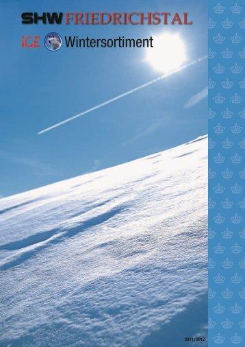 Wintersortiment - SHW Schmiedetechnik GmbH & Co. KG