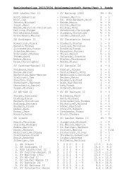 Bezirksoberliga 2003/2004 Spielgemeinschaft Herne/Vest 3. Runde ...