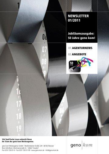 Januar 2011 - geno kom Werbeagentur GmbH