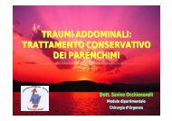 Traumi addominali trattamento conservativo dei parenchimi S ...