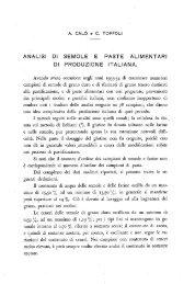 analisi di semole e paste alimentari di produzione italiana. - Istituto ...