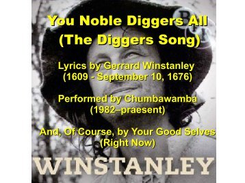 You Noble Diggers All (The Diggers Song)