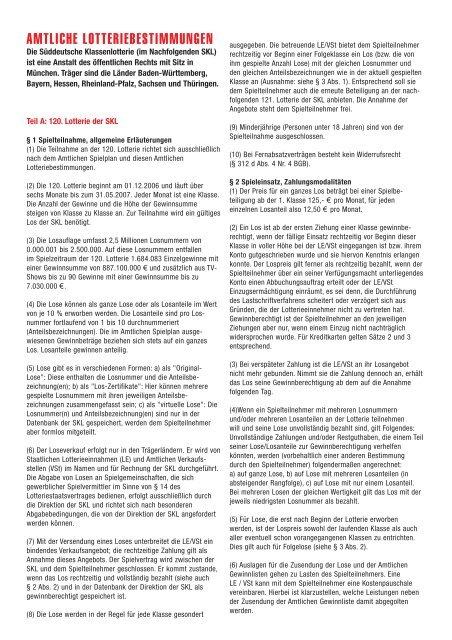 Www Süddeutsche Klassenlotterie De