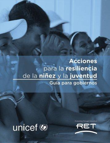 Acciones para la resiliencia de la niñez y la juventud