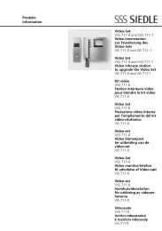 Produkt- information Video-Set VSS 711-0 und VSS 711-1 ... - Siedle
