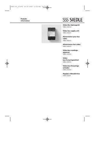 bedienungsanleitung bus freisprech telefon siedle usa. Black Bedroom Furniture Sets. Home Design Ideas