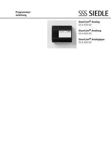 programmieranleitung eingangscontroller ec 602 02 siedle. Black Bedroom Furniture Sets. Home Design Ideas