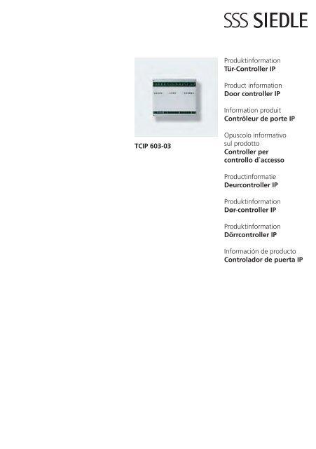 Produktinformation Tür Controller Ip Product Information