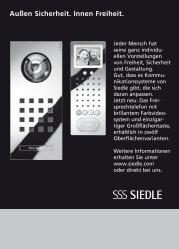 Siedle Steel und Freisprechstation: