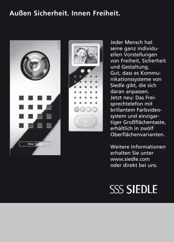 """Siedle Steel und Freisprechstation: """"Außen Sicherheit. Innen Freiheit"""