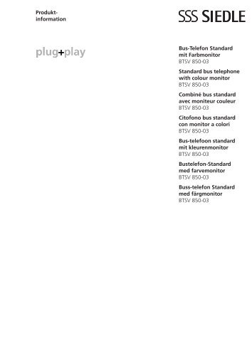 SIEDLE HTS 811-W Haustelefon Standard Weiss online kaufen im