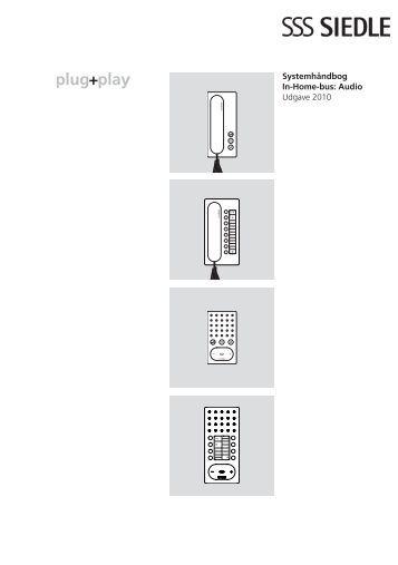 Systemhåndbog In-Home-bus: Audio Udgave 2010 - Siedle