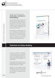 Sicherheit im Online-Banking - geno kom Werbeagentur GmbH