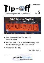 Tip-Off #5 - Saison 2008/2009 - Skybembels online