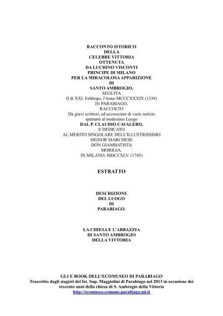 """Cavalero """"Racconto istorico della celebre vittoria ottenuta da ..."""