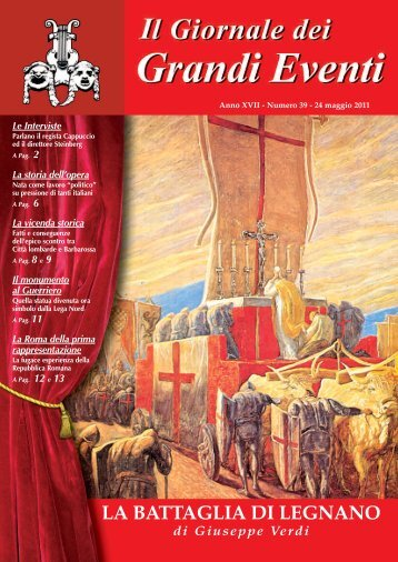 La BATTAGLIA di LEGNANO - Il giornale dei Grandi Eventi