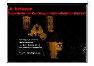 Supervision und Coaching im interkulturellen ... - SL-Consult GmbH