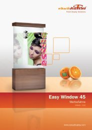 Easy Window Werbefahne - Easydisplay.com