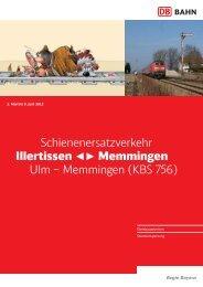 Memmingen (KBS 756) - Baubedingte Fahrplanänderungen - Bahn