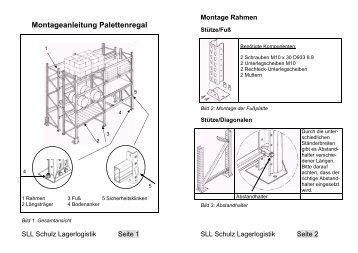 Montageanleitung Palettenregal