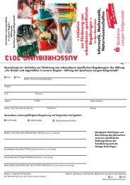 AUSSCHREIBUNG 2013 - Sparkasse Langen-Seligenstadt