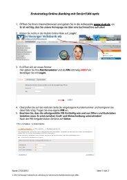 Ersteinstieg Sm@rtTAN optic - Schleswiger Volksbank eG
