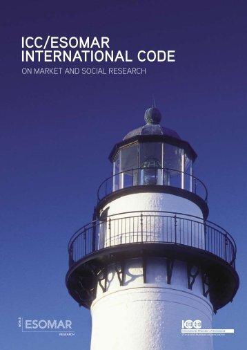 ICC/ESOMAR International Code on Market and ... - Smartcon.de