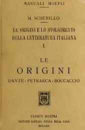 Le origini e lo svolgimento della letteratura italiana
